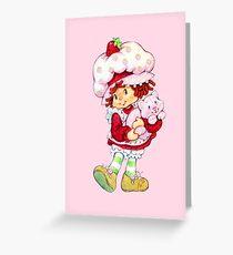 Strawberry Shortcake & Custard Greeting Card
