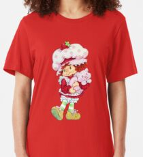 Strawberry Shortcake & Custard Slim Fit T-Shirt