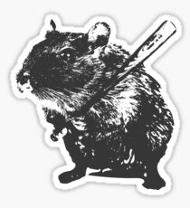 Angry street art mouse / hamster (baseball edit) Sticker