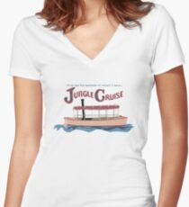 Jungle Cruise Women's Fitted V-Neck T-Shirt