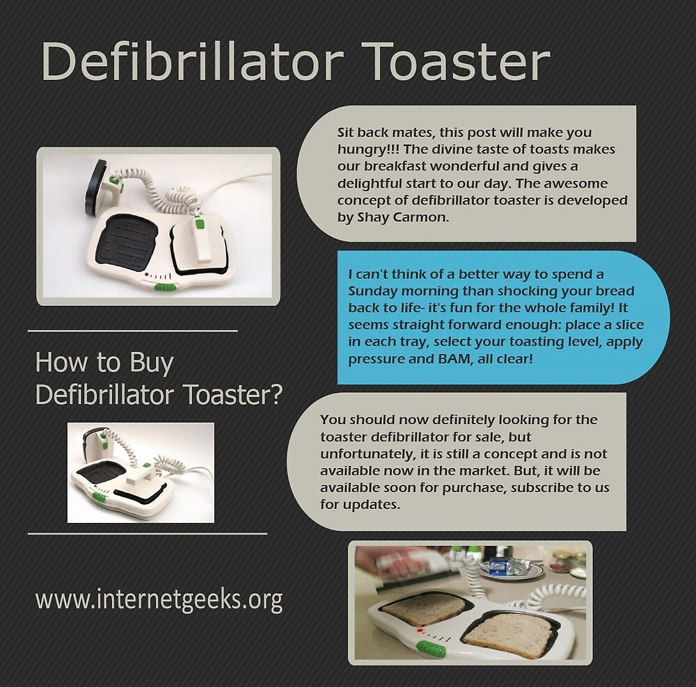 "Where can i a defibrillator toaster"" by irisrei08"