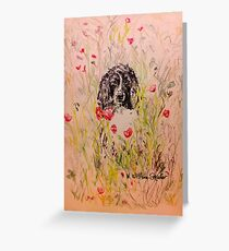 Wildflower Springer Greeting Card