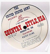 Patsy Cline, Country Style USA, US Army LP  Poster