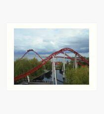 Maverick Roller Coaster Camelback Art Print