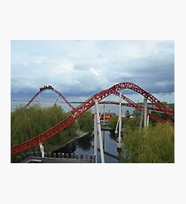 Maverick Roller Coaster Camelback Photographic Print