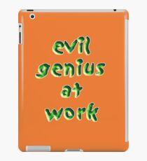 evil genius at work iPad Case/Skin