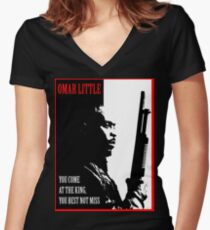 Don't Miss the King Women's Fitted V-Neck T-Shirt