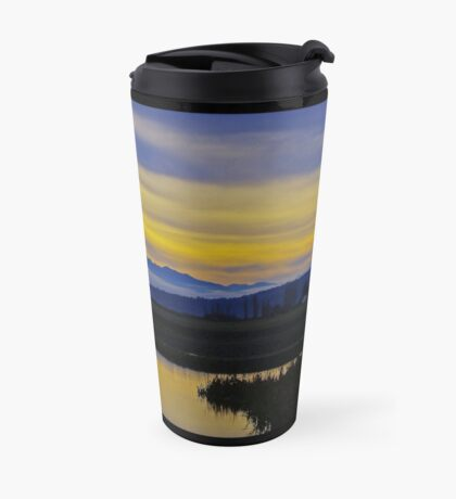 sunset over the olympics Travel Mug