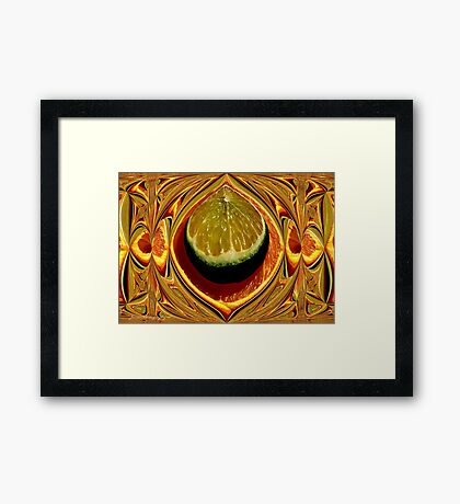 Orange Julep    ( Kitchen Art Series ) Framed Print