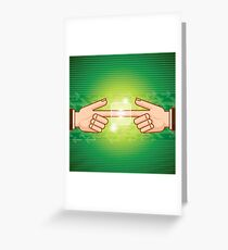 social network structure Greeting Card