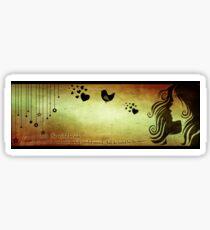 love in a breath... II Sticker