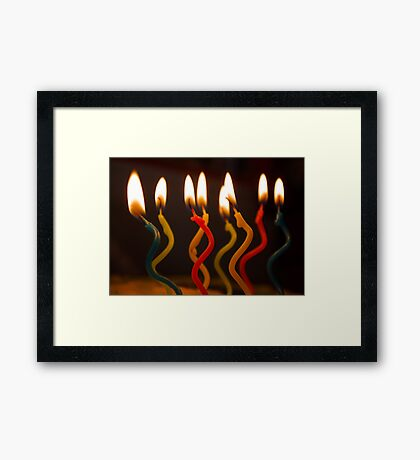 curly candles Framed Print