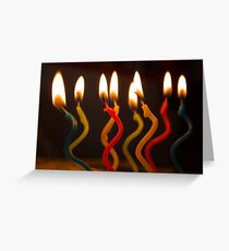 curly candles Greeting Card
