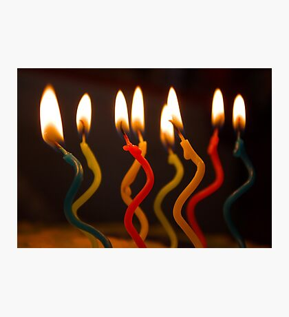 curly candles Photographic Print