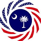 South Carolina Murican Patriot Flag Series by Carbon-Fibre Media