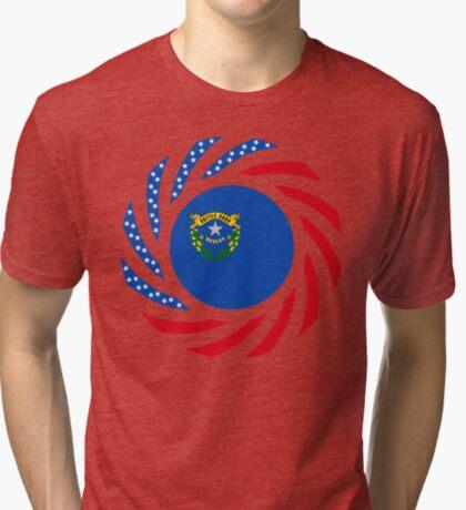 Nevadan Murican Patriot Flag Series Tri-blend T-Shirt