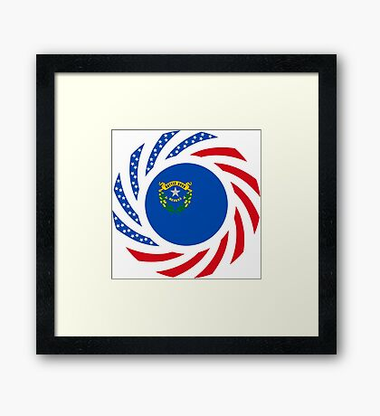 Nevadan Murican Patriot Flag Series Framed Print