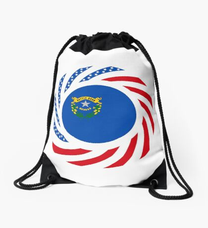 Nevadan Murican Patriot Flag Series Drawstring Bag