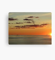 Red Clouds Canvas Print