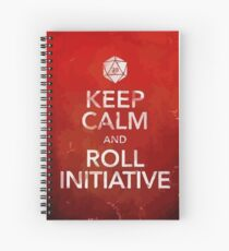 D&D Keep Calm Spiral Notebook