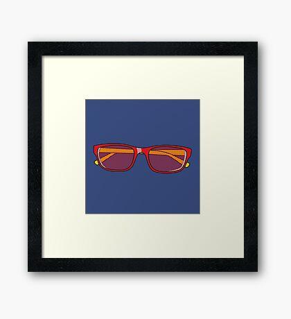 Pop Art Glasses Framed Print