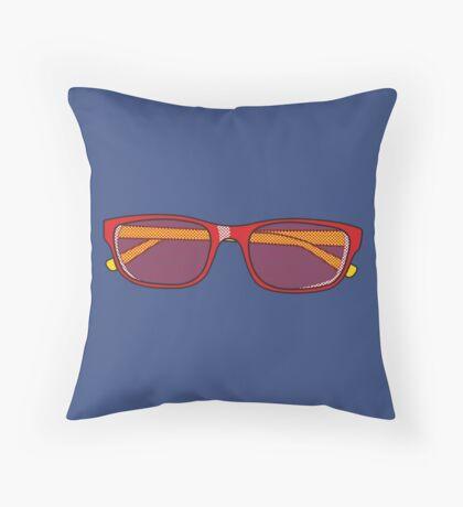 Pop Art Glasses Throw Pillow
