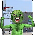 Melon Head Basketball Man by JoelCortez
