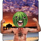 Melon Head Beach Man by JoelCortez