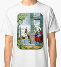 Christ at the well - 1846 - Currier & Ives Classic T-Shirt