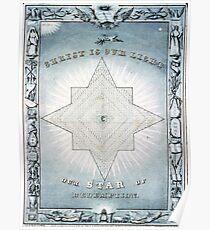 Christ is our light - Our star of redemption - 1849 - Currier & Ives Poster