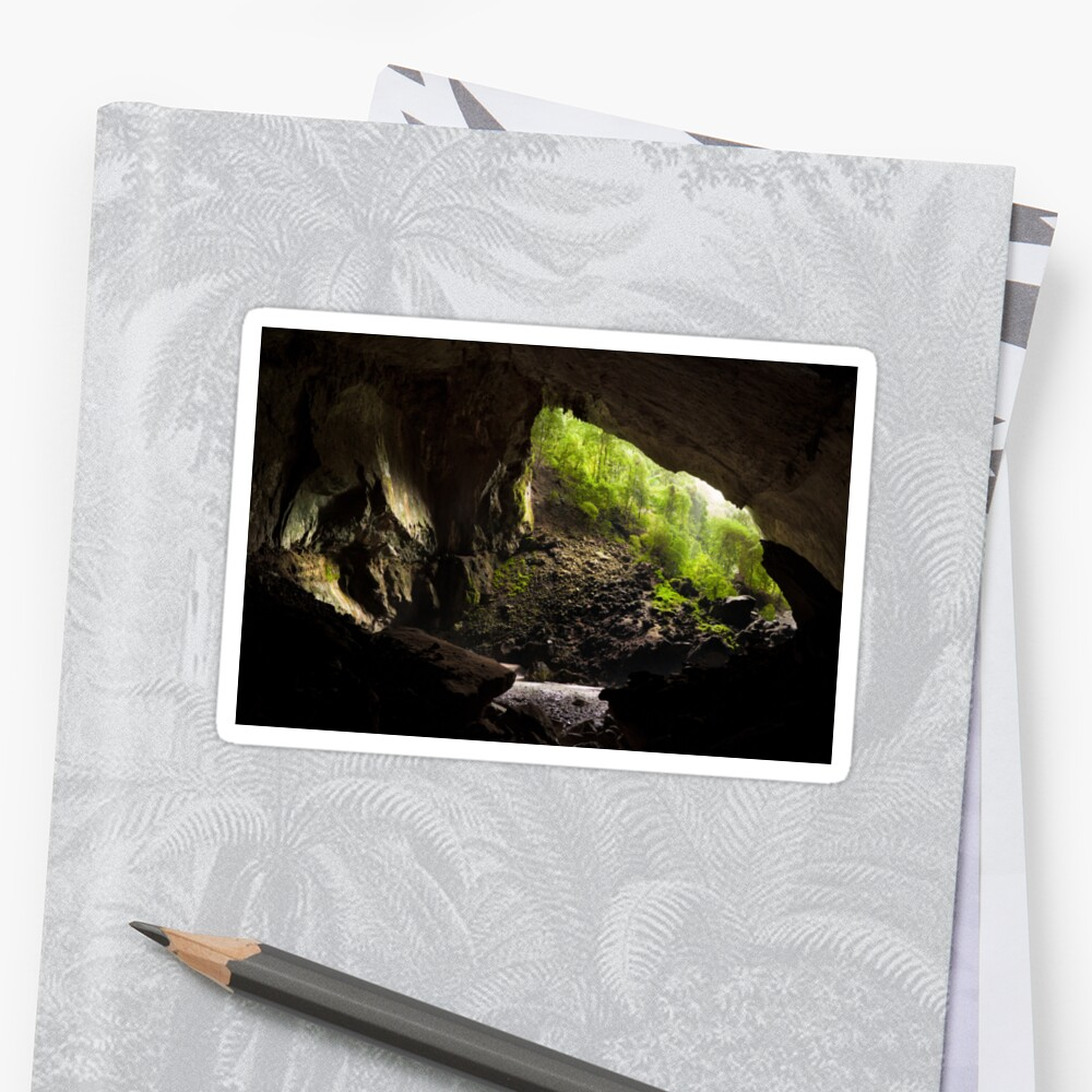 Deer cave gunung mulu national park Sticker