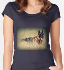 Straw Dog! Women's Fitted Scoop T-Shirt