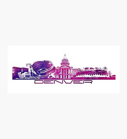 Denver skyline city purple Photographic Print
