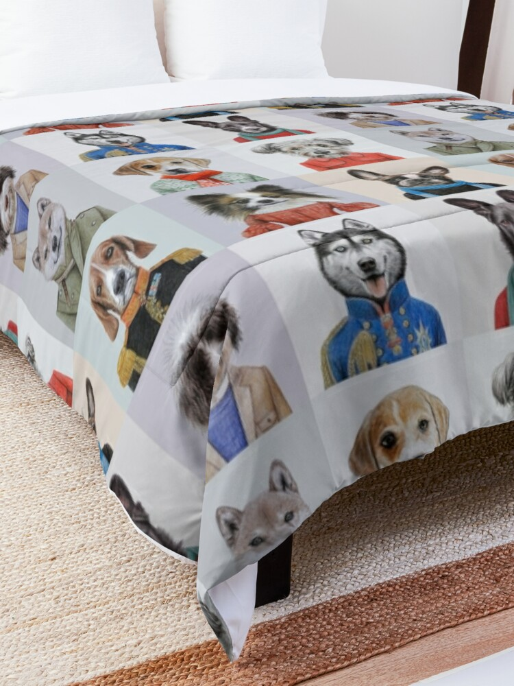 Alternate view of dogs Comforter