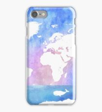 Ocean, boat, map, whale iPhone Case/Skin