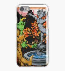 Martians Waling a Springer Spaniel iPhone Case/Skin