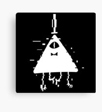 Bill Cipher static white Canvas Print