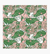 Chameleon abstract seamless pattern Photographic Print