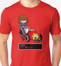 Undertale Frisk und Flowey Slim Fit T-Shirt