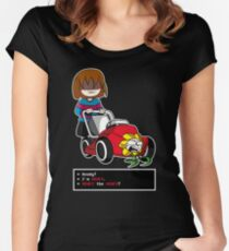 Undertale Frisk and Flowey Women's Fitted Scoop T-Shirt