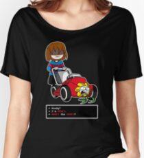Undertale Frisk und Flowey Loose Fit T-Shirt