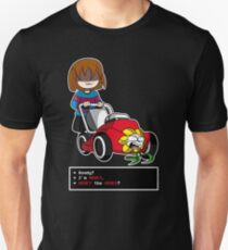 Undertale Frisk and Flowey Slim Fit T-Shirt