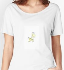 colorful sketch of giraffe on white background Women's Relaxed Fit T-Shirt