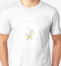 colorful sketch of giraffe on white background Unisex T-Shirt