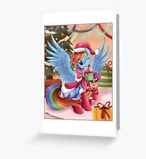 Rainbow Dash Christmas Greeting Card