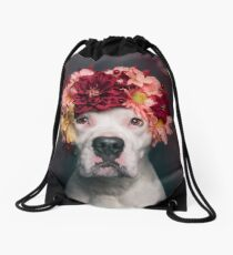 Flower Power Lizzy Drawstring Bag