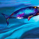 «BowHead WHale Swimming Along» de dotsofpaint