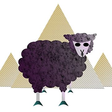 Egyptian Purple Masked Sheep Occult ¥ by kevinhudesigner