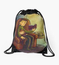 Reading stories Drawstring Bag