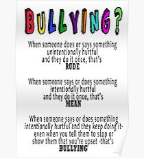 BULLYING? Poster